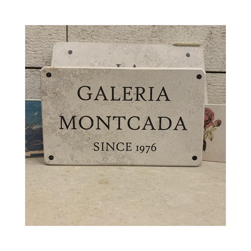 placa recordatorio piedra natural tamaño y texto personalizado